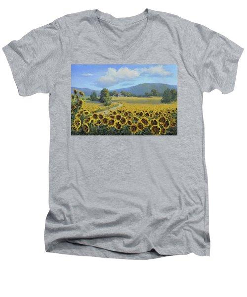 Sunflower Fields Men's V-Neck T-Shirt