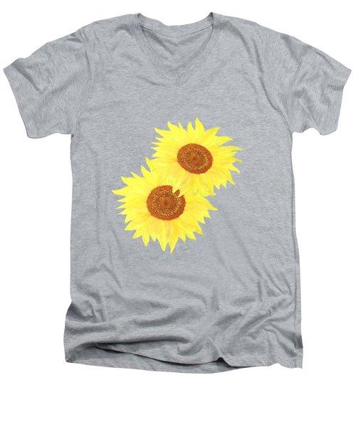Sunflower Heart Men's V-Neck T-Shirt