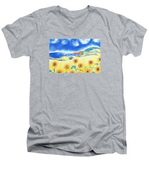 Sunflower Hills Men's V-Neck T-Shirt