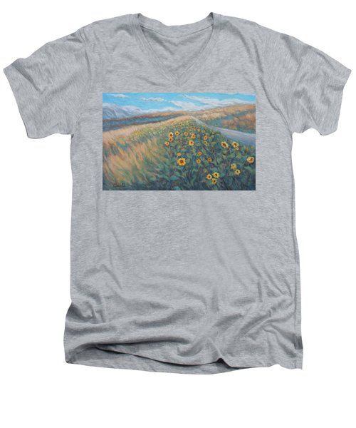 Sunflower Journey Men's V-Neck T-Shirt