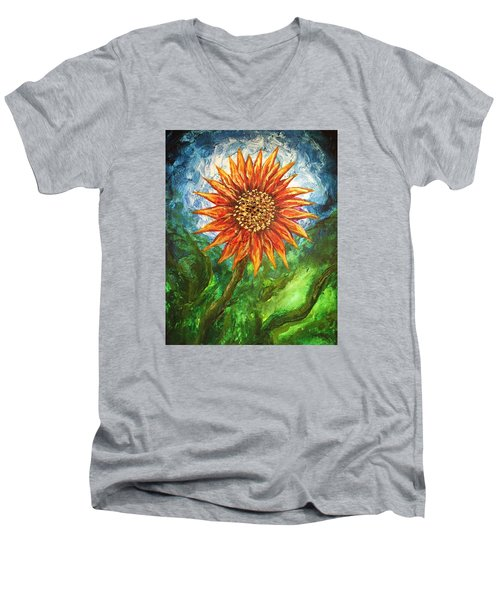 Sunflower Joy Men's V-Neck T-Shirt