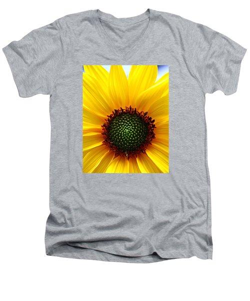 Sunflower Macro Men's V-Neck T-Shirt