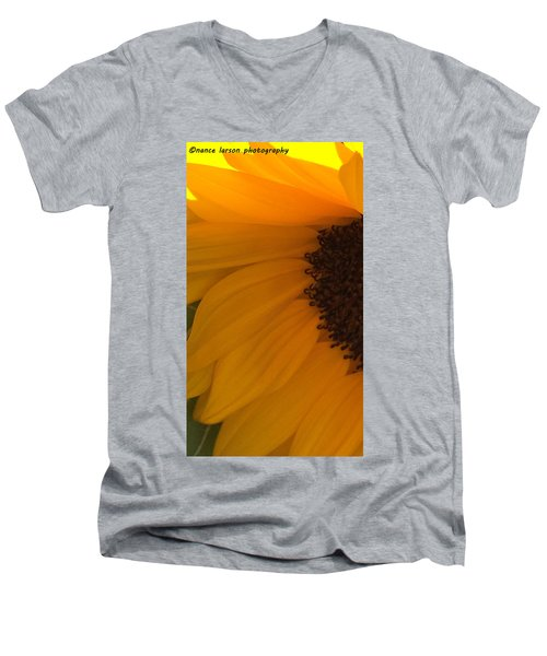 Sunflower Macro Men's V-Neck T-Shirt