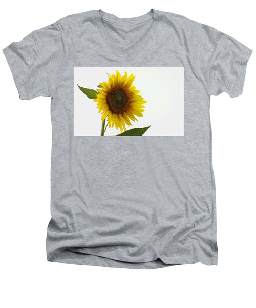 Sunflower Minimal Men's V-Neck T-Shirt by Joseph Skompski