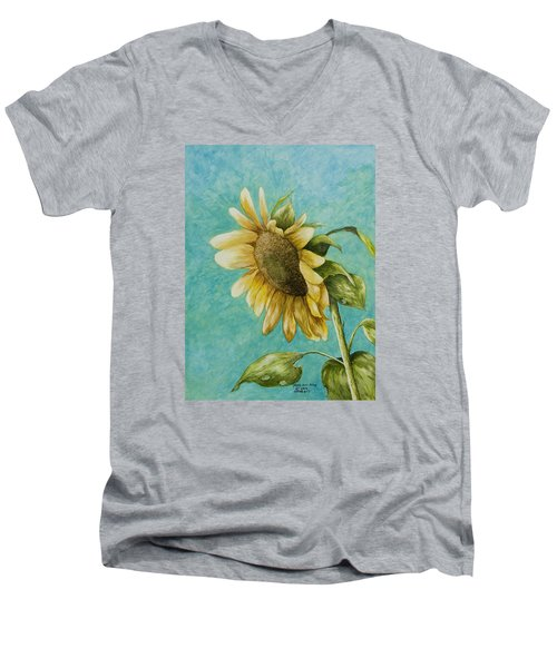 Sunflower Number One Men's V-Neck T-Shirt