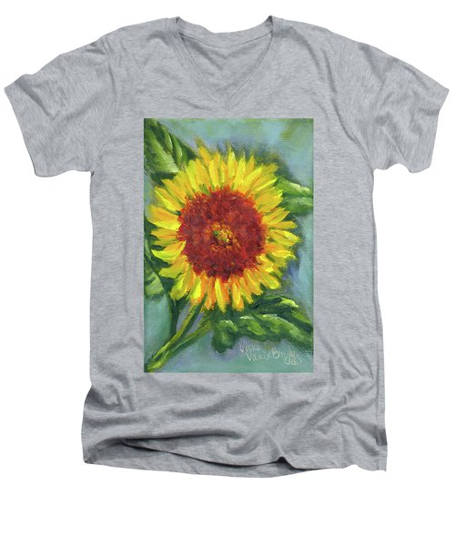 Sunflower Seed Packet Men's V-Neck T-Shirt