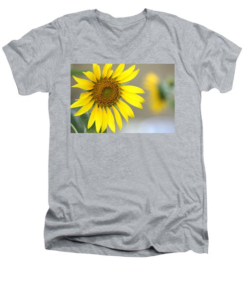 Men's V-Neck T-Shirt featuring the photograph Sunflower by Sheila Brown
