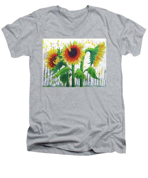 Sunflower Sonata Men's V-Neck T-Shirt