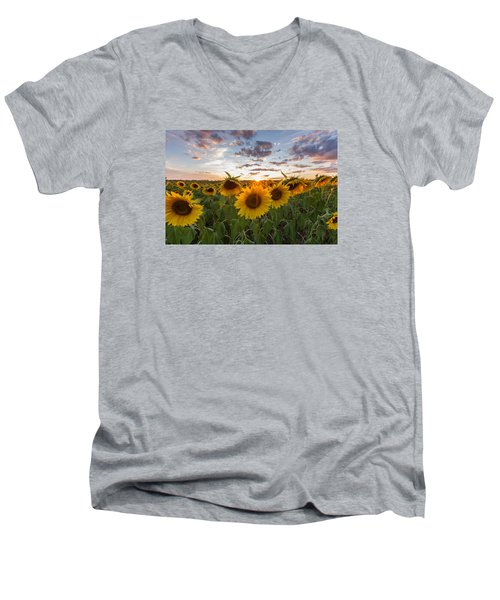 Sunflower Sunset Men's V-Neck T-Shirt