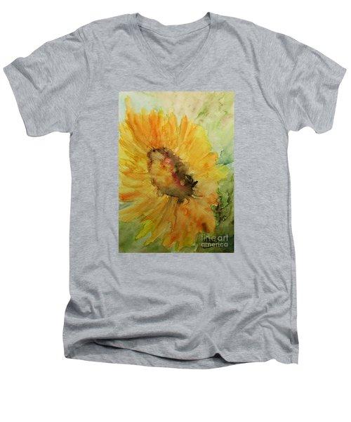 Sunflower Watercolor Men's V-Neck T-Shirt