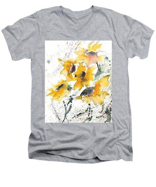 Sunflowers 10 Men's V-Neck T-Shirt
