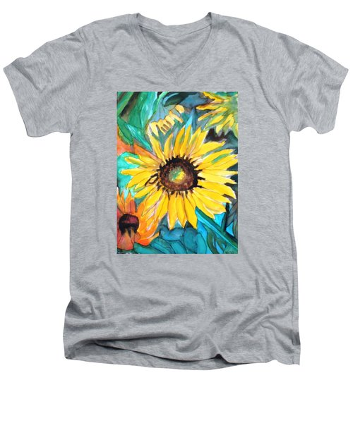 Sunflowers 7 Men's V-Neck T-Shirt