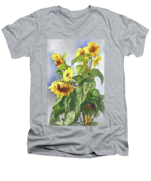 Sunflowers After The Rain Men's V-Neck T-Shirt