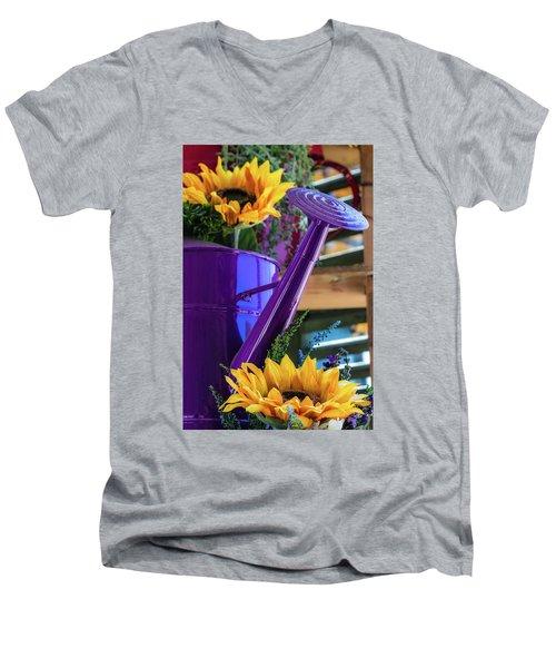 Complementary Sunflowers Men's V-Neck T-Shirt