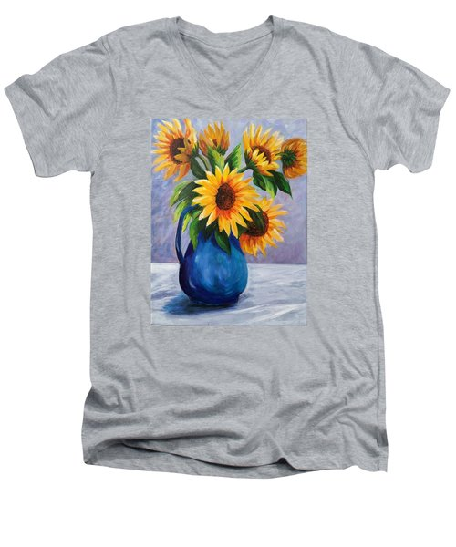 Sunflowers In Bloom Men's V-Neck T-Shirt
