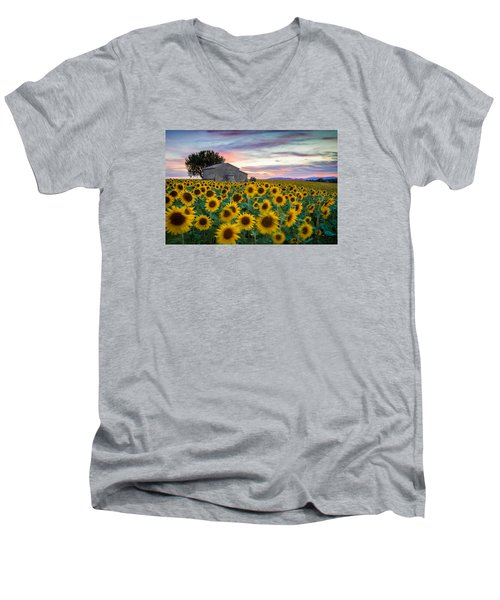 Sunflowers In Provence Men's V-Neck T-Shirt