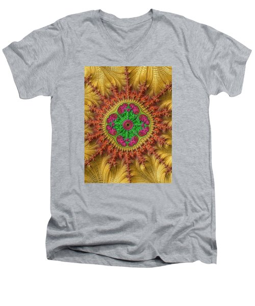Men's V-Neck T-Shirt featuring the photograph Sungold by Ronda Broatch