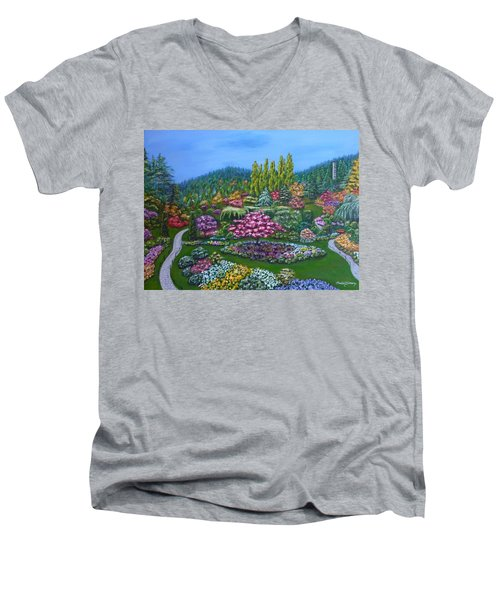 Sunken Garden Men's V-Neck T-Shirt