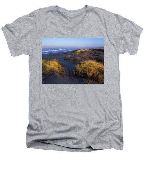 Sunlight On The Beach Grass Men's V-Neck T-Shirt