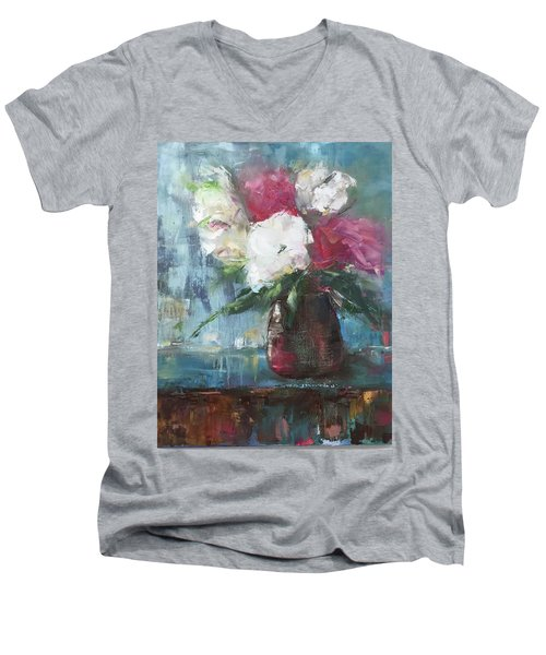 Sunlit Bouquet Men's V-Neck T-Shirt