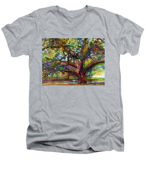 Sunlit Century Tree Men's V-Neck T-Shirt