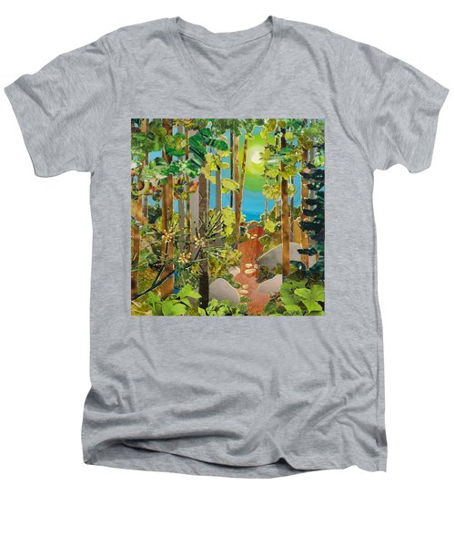 Sunlit Path Men's V-Neck T-Shirt