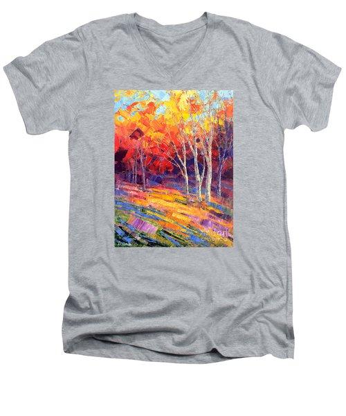 Sunlit Shadows Men's V-Neck T-Shirt by Tatiana Iliina