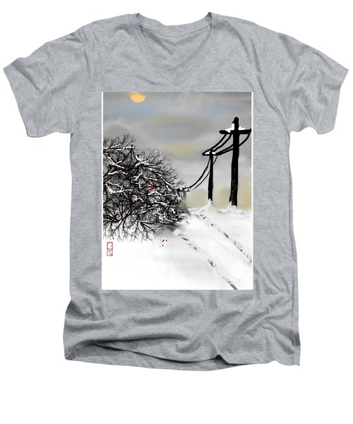 Sunny 28 Below Men's V-Neck T-Shirt