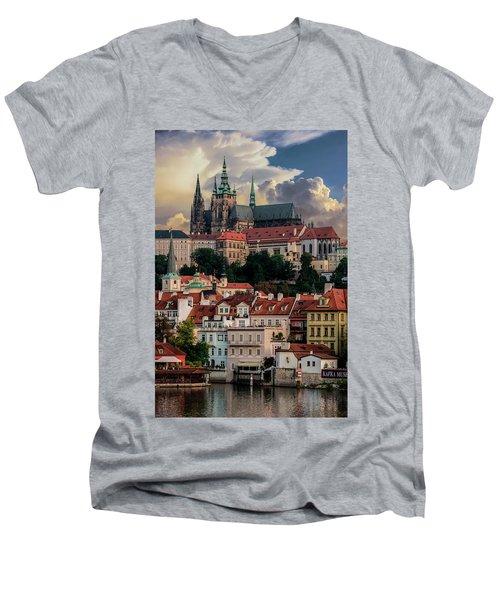 Sunny Afternoon In Prague Men's V-Neck T-Shirt