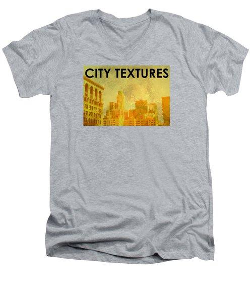 Sunny City Textures Men's V-Neck T-Shirt by John Fish