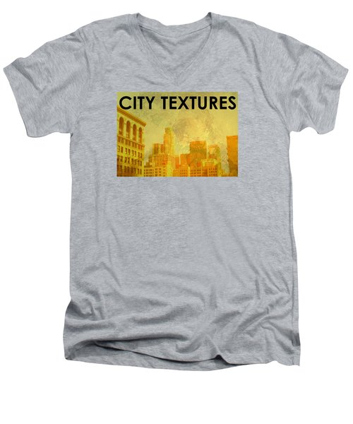 Sunny City Textures Men's V-Neck T-Shirt