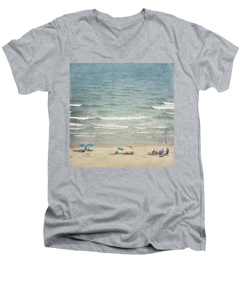 Sunny Day At North Myrtle Beach Men's V-Neck T-Shirt