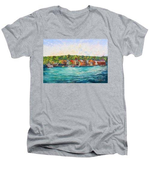 Summer In Skaneateles Ny Men's V-Neck T-Shirt