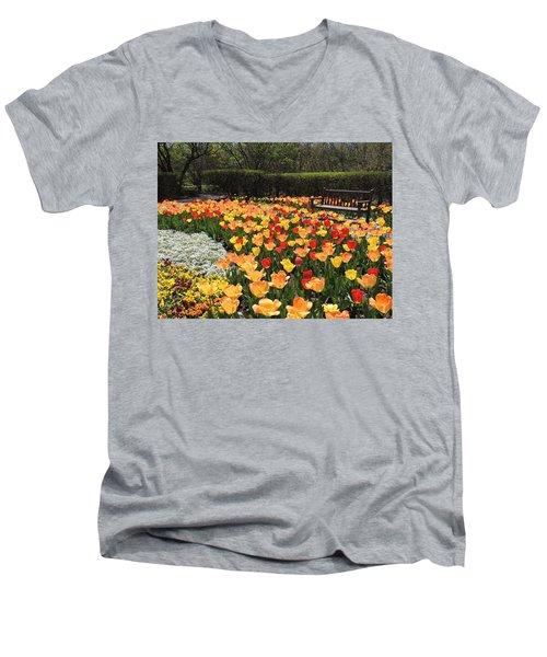 Sunny Days Men's V-Neck T-Shirt by Teresa Schomig
