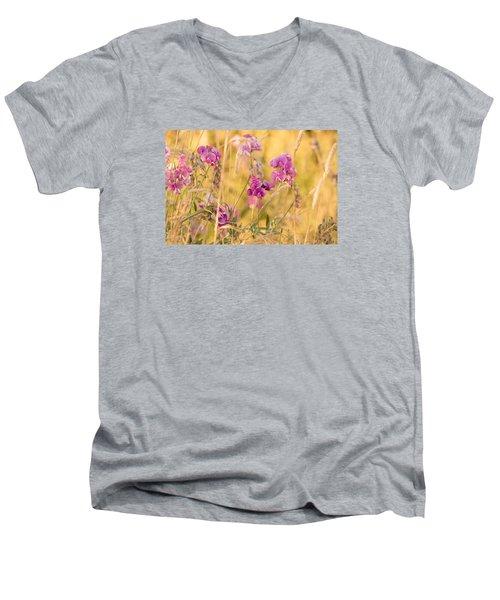 Sunny Garden 1 Men's V-Neck T-Shirt by Bonnie Bruno