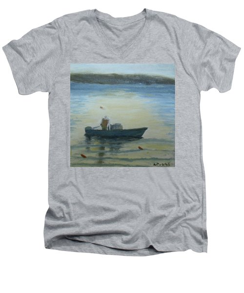 Sunny Morning And Lobster Men's V-Neck T-Shirt
