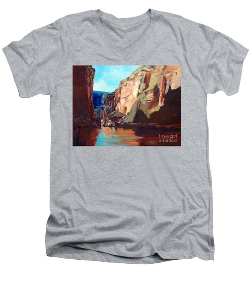 Sunny Morning On The Mighty Colorado Men's V-Neck T-Shirt