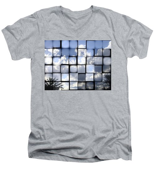 Men's V-Neck T-Shirt featuring the photograph Sunny Sky by Christina Verdgeline