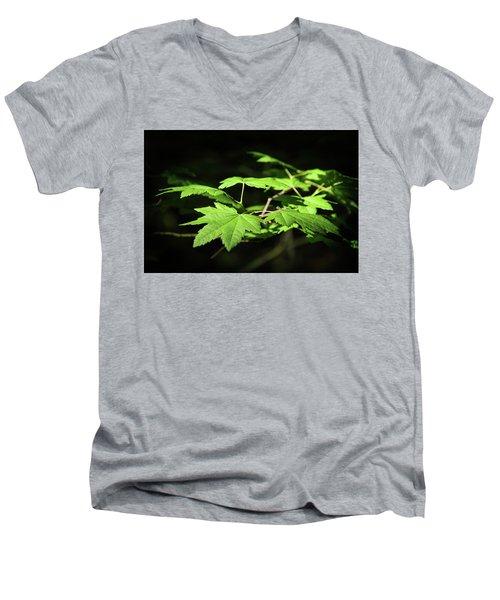 Sunny Summer Maple Men's V-Neck T-Shirt