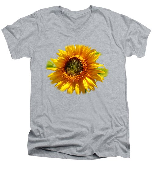 Men's V-Neck T-Shirt featuring the photograph Sunny Sunflower by Christina Rollo