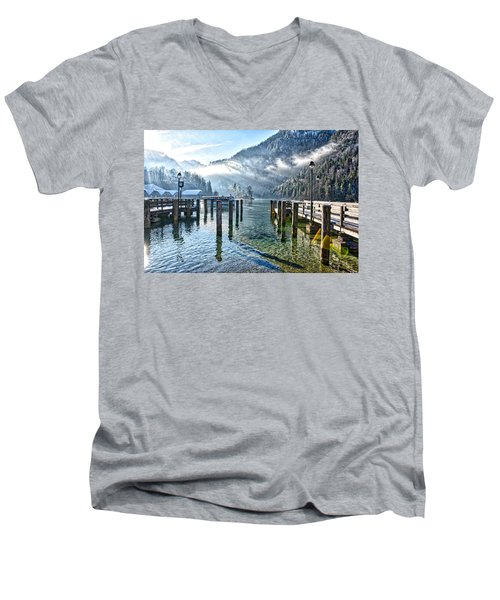Sunny Winter Morning Men's V-Neck T-Shirt