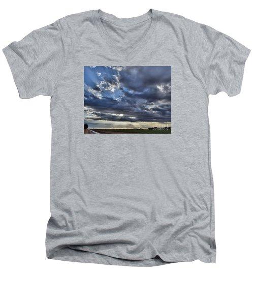 Sunrise 10-17-15 Men's V-Neck T-Shirt