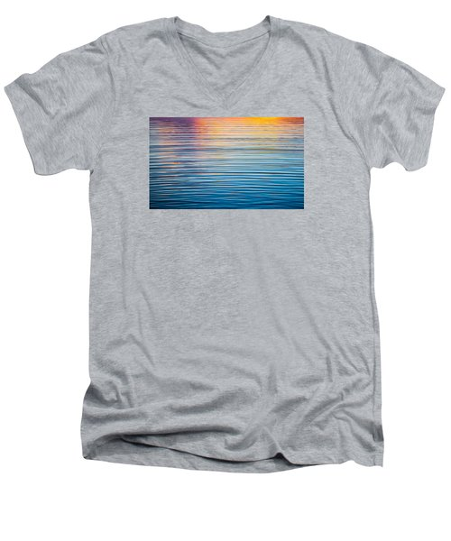 Sunrise Abstract On Calm Waters Men's V-Neck T-Shirt