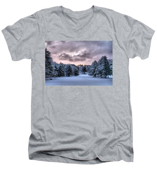 Sunrise After The Snow  Men's V-Neck T-Shirt by Betty Pauwels