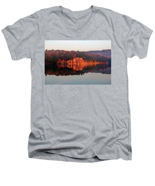 Men's V-Neck T-Shirt featuring the photograph Sunrise And Harmony by Debbie Oppermann