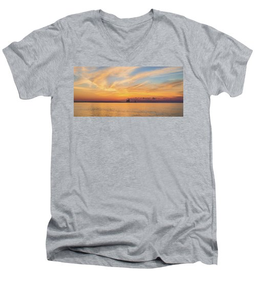 Men's V-Neck T-Shirt featuring the photograph Sunrise And Splendor by Bill Pevlor