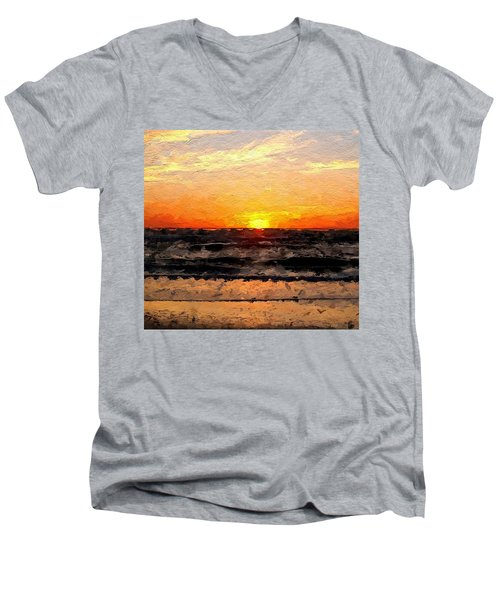 Sunrise Men's V-Neck T-Shirt by Anthony Fishburne