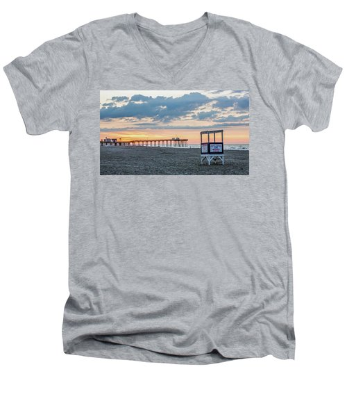 Sunrise At 16th Street Ocean City New Jersey Men's V-Neck T-Shirt