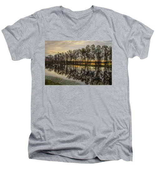 Sunrise At Brazos Men's V-Neck T-Shirt
