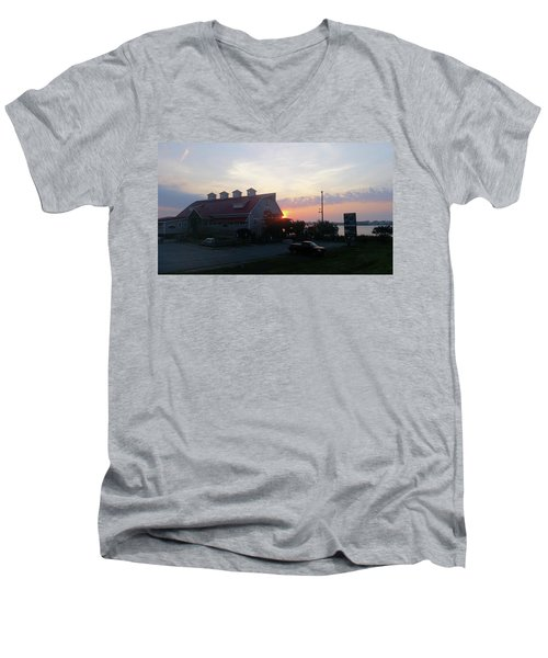 Sunrise At Hooper's Crab House Men's V-Neck T-Shirt